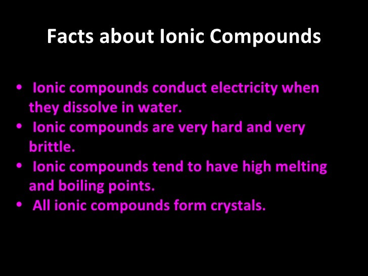 facts about compounds