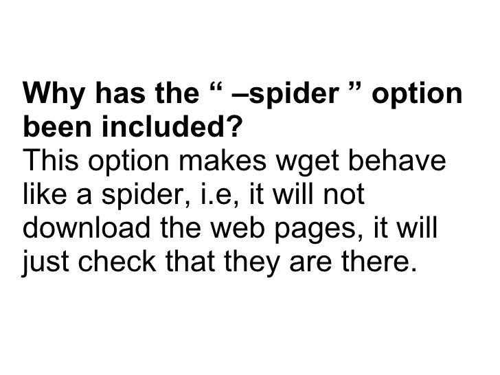 Coding for a wget based Web Crawler