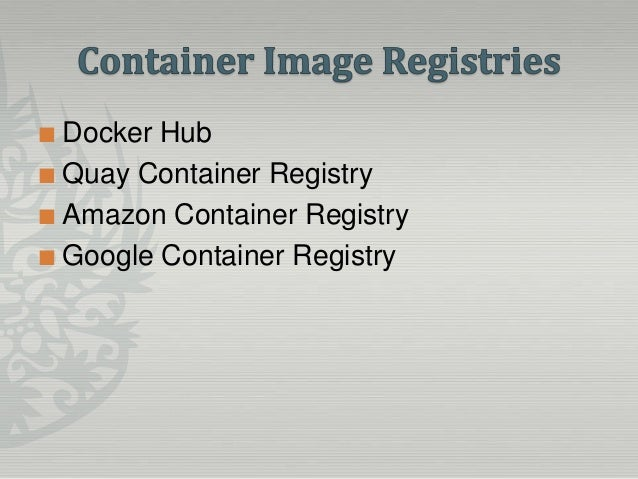 Understanding the container landscape and it associated for Docker hub consul