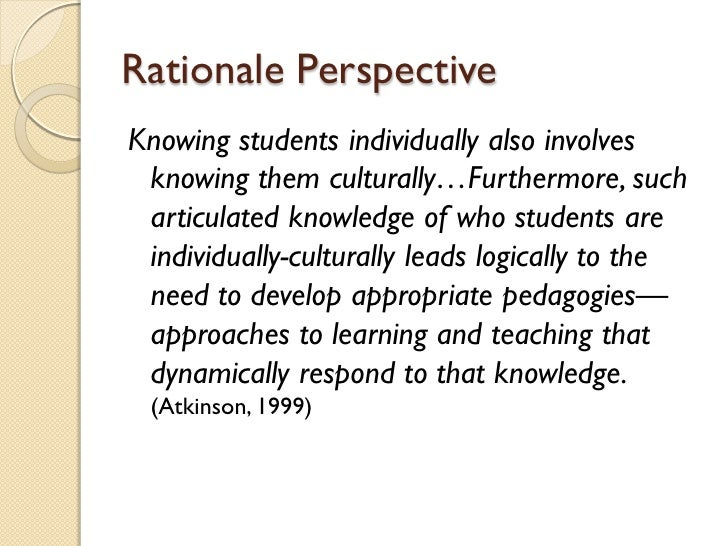 understanding students and their culture Understanding esl learners: moving toward cultural provide opportunities for students to share their own cultural traditions and beliefs 5 understand the.