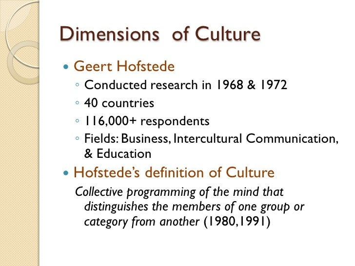 hofstede cultural dimension essay example Home essays hofstede s cultural dimensions hofstede s cultural dimensions for example, only the owner or hofstede cultural dimension spain essayquickly and easily (lane at al 2006.
