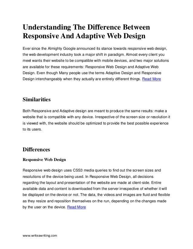 Understanding the difference between responsive and Difference between calligraphy and typography