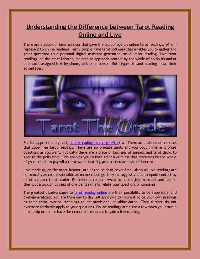 Understanding the difference between tarot reading online