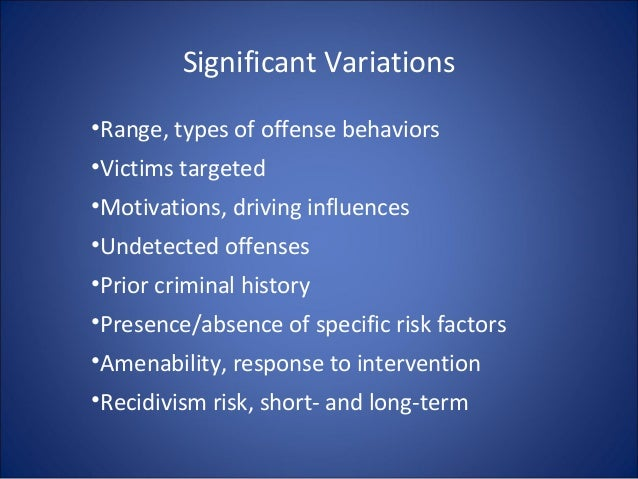 Dynamic risk factors sexual offending