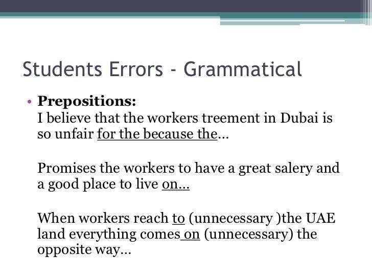 Understanding The Errors Of Arabic Speaking Ells