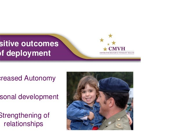 the effects of deployment on military The purpose of this observational, point prevalence study is to determine if parental deployment affects the cognitive, social and emotional development of preschool age children in the military.