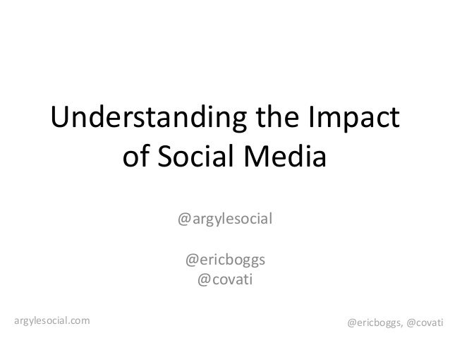 @ericboggs, @covatiargylesocial.com Understanding the Impact of Social Media @argylesocial @ericboggs @covati