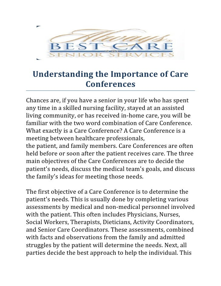 Understanding the importance of care conferences.docx
