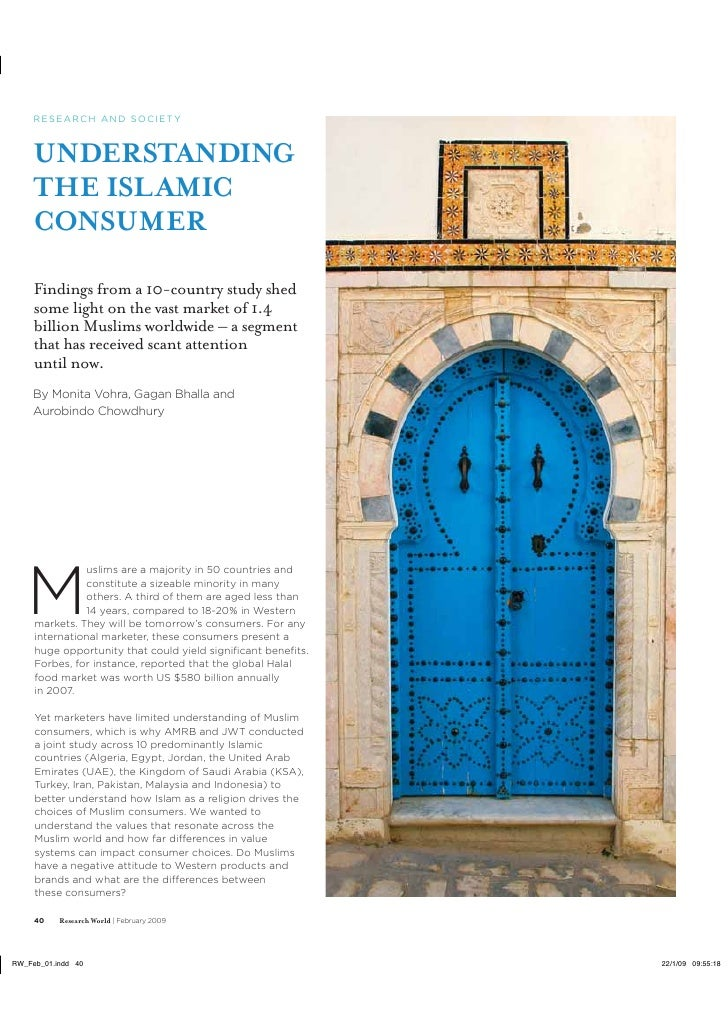 Understanding The Islamic Consumer