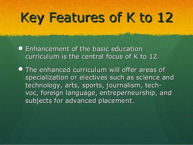 the enhanced k 12 program