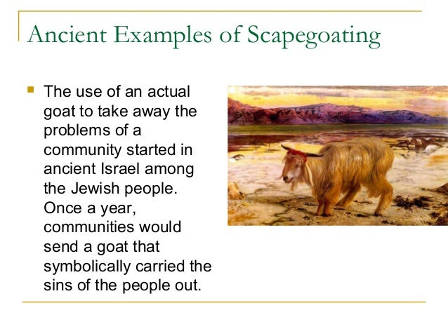 scapegoat in the lottery Get an answer for ' what is the ritual of the scapegoat and how is tessie a scapegoat' and find homework help for other the lottery questions at enotes.