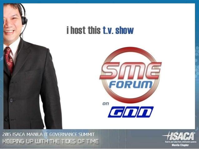 i host this t.v. show