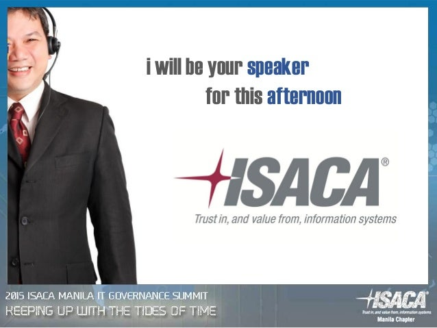 i will be your speaker for this afternoon