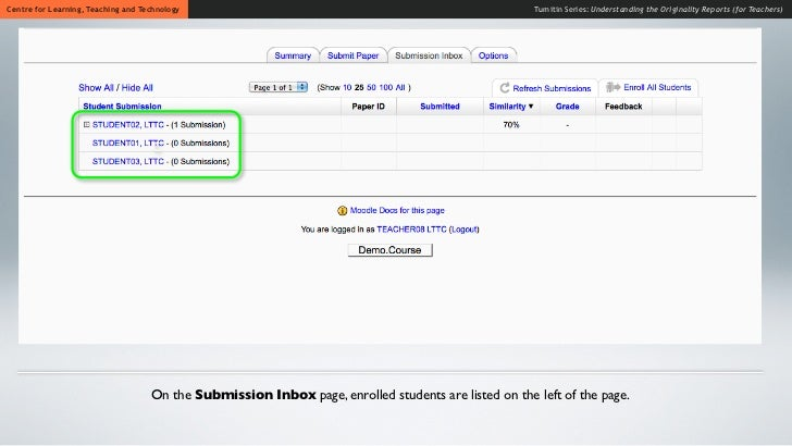 how to get the originality report on turnitin