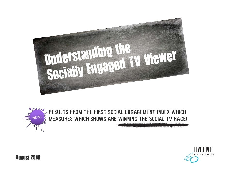 Results from the first Social Engagement Index which               m a               measures which shows a winning the So...