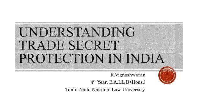 R.Vigneshwaran 4th Year, B.A.LL.B (Hons.) Tamil Nadu National Law University.
