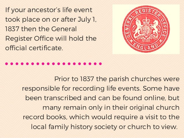 Understanding birth marriage death certificates in uk - General register office birth certificate ...