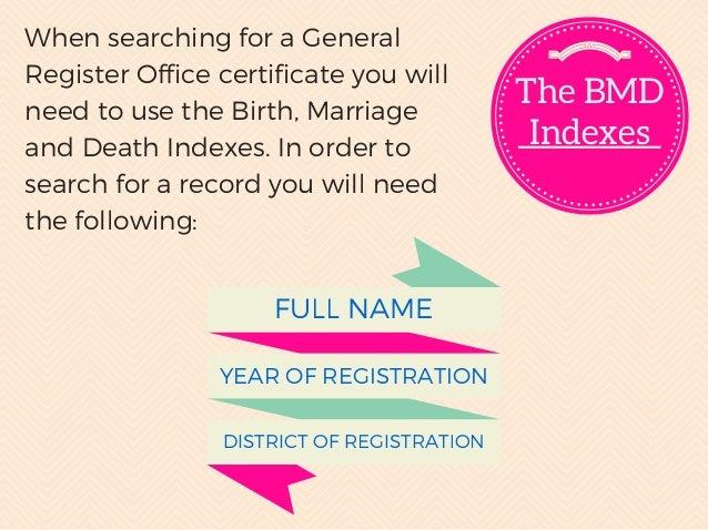 Understanding Birth, Marriage & Death Certificates in UK family tree …