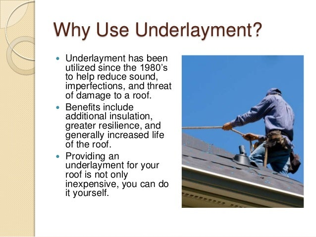 Why Use Underlayment?  Underlayment has been utilized since the 1980's to help reduce sound, imperfections, and threat of...