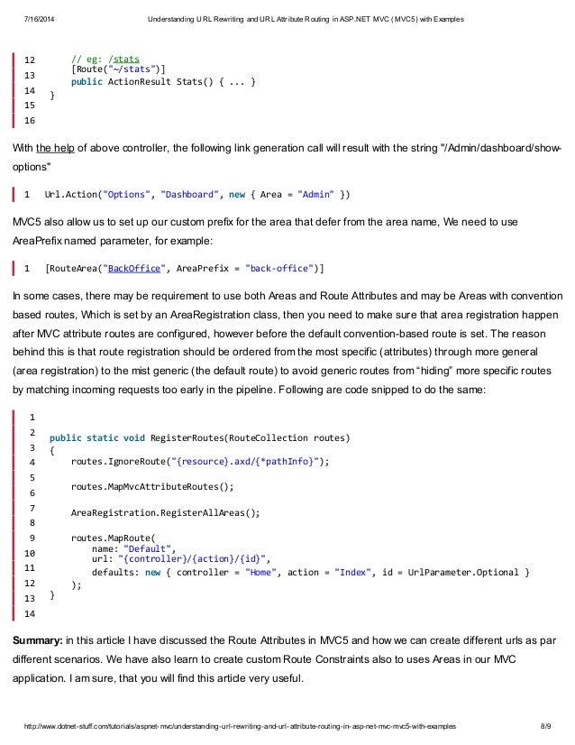 URL Rewriting in ASP.NET 0