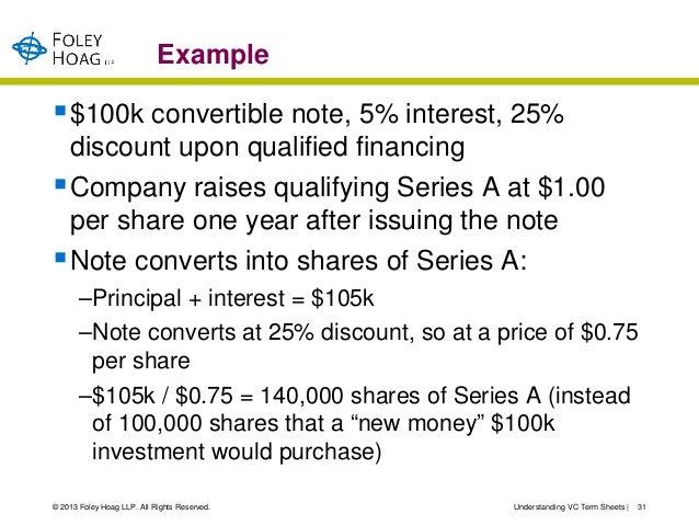 Term Sheet Example  BesikEightyCo