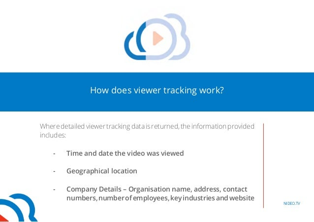 How does viewer tracking work?  Where detailed viewer tracking data is returned, the information provided  includes:  - Ti...