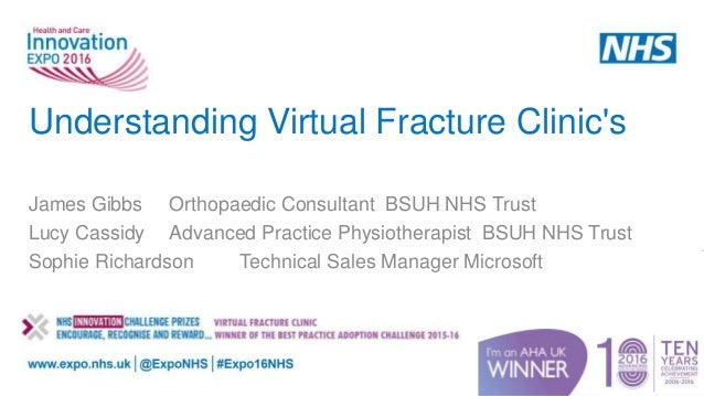 Technology Management Image: Understanding Virtual Fracture Clinics