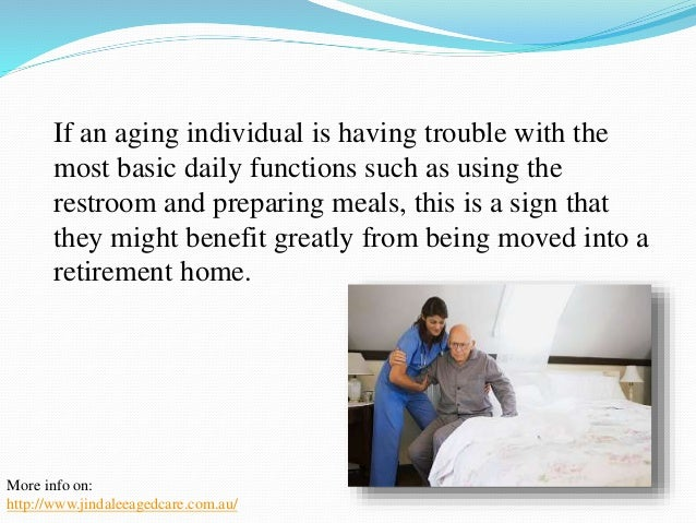 All up, the quality of life of  the aging individual needs to  be considered when making  the decision on whether or not  ...