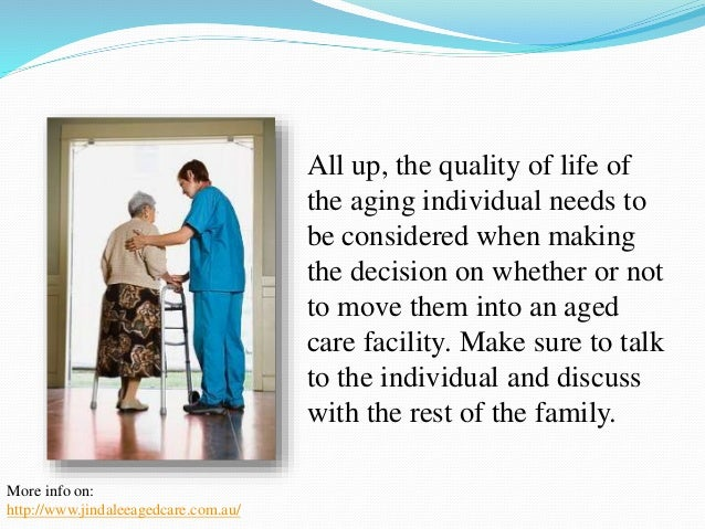 Understanding When to Move Into an Aged Care Facility