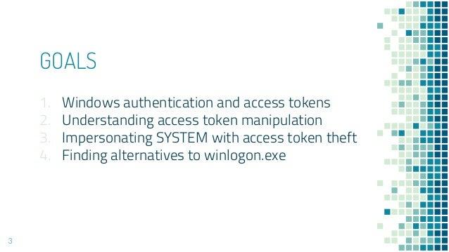 Understanding Windows Access Token Manipulation Slide 3