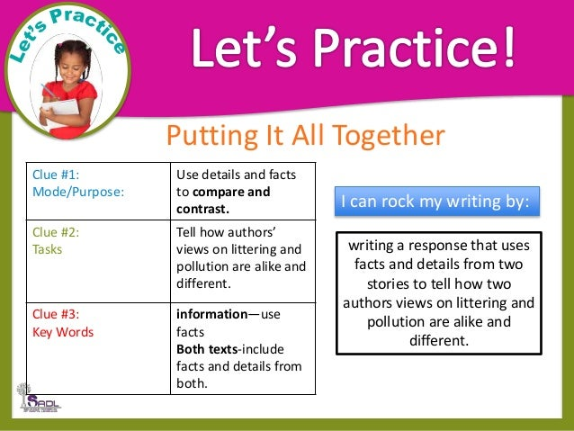 teach compare and contrast essay
