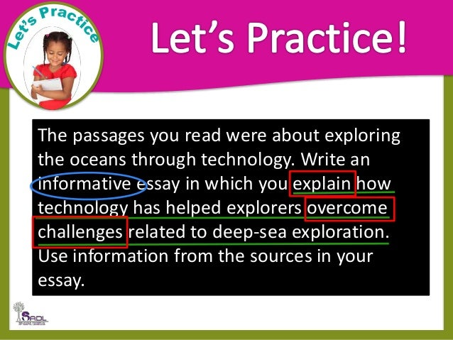 Information essay prompts and passages