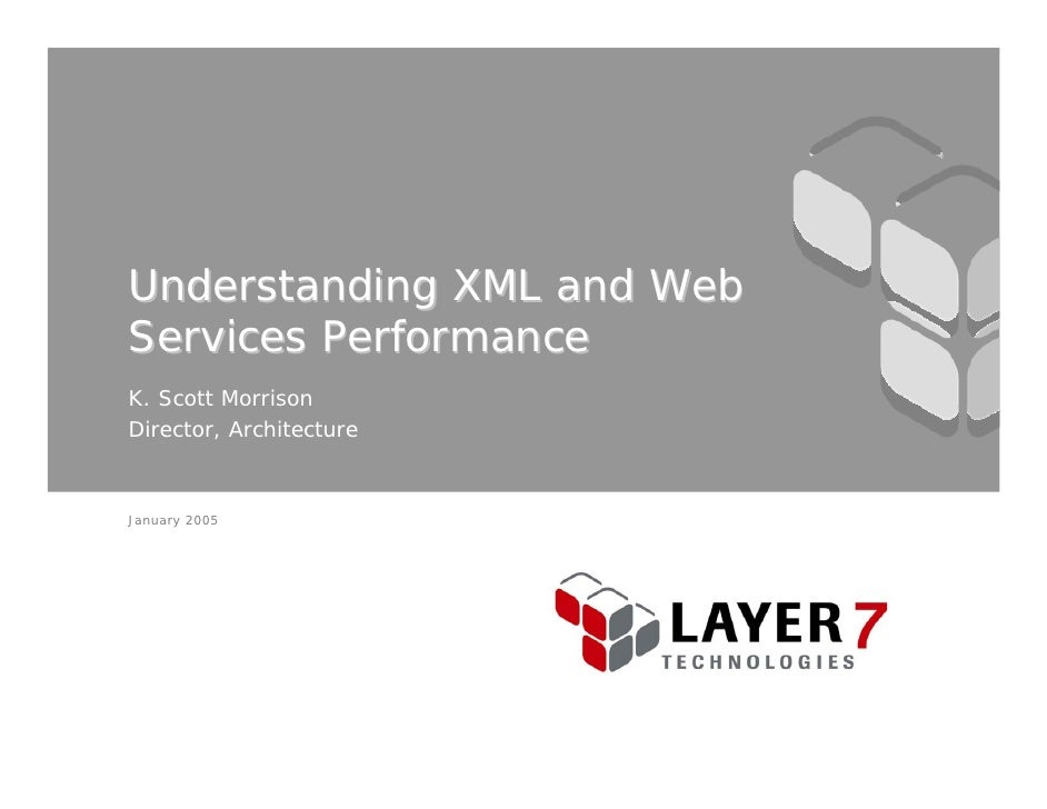 Understanding XML and Web Services Performance K. Scott Morrison Director, Architecture    January 2005