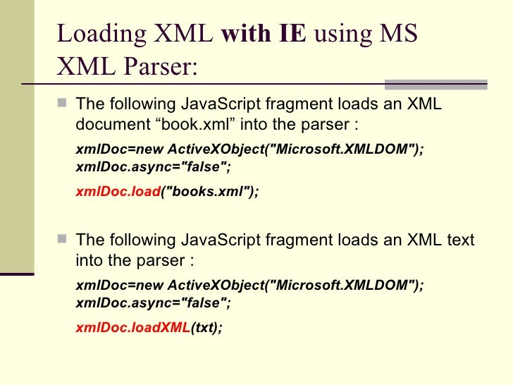 xml dom Msxml dom errors two common errors that are returned from the xml document object model (dom) interface methods are: an invalid character was found in text content.