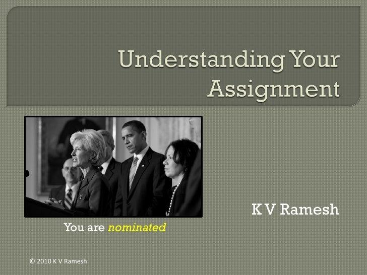 K V Ramesh           You are nominated  © 2010 K V Ramesh