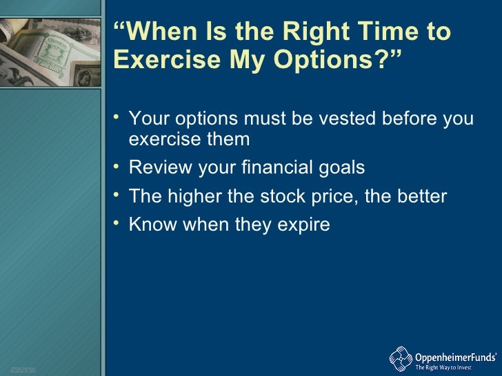 Stock options vested and exercisable