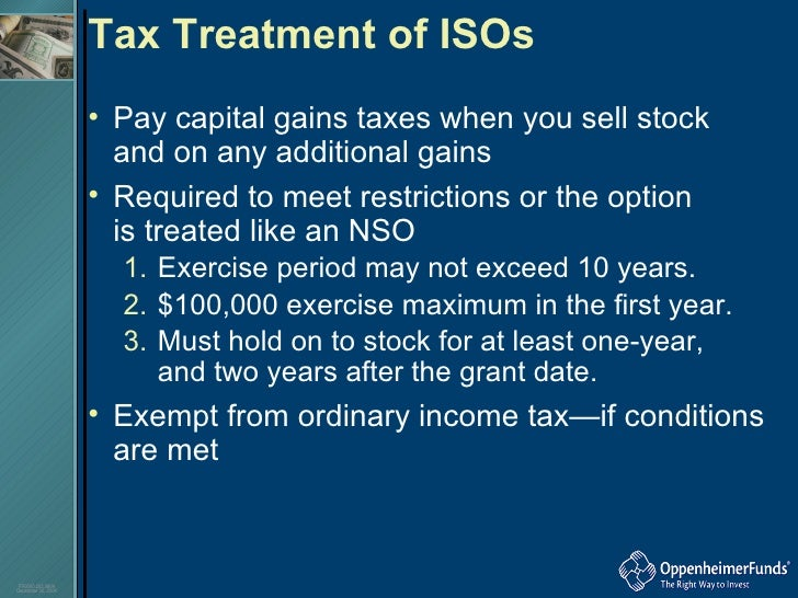 Nso stock options tax treatment