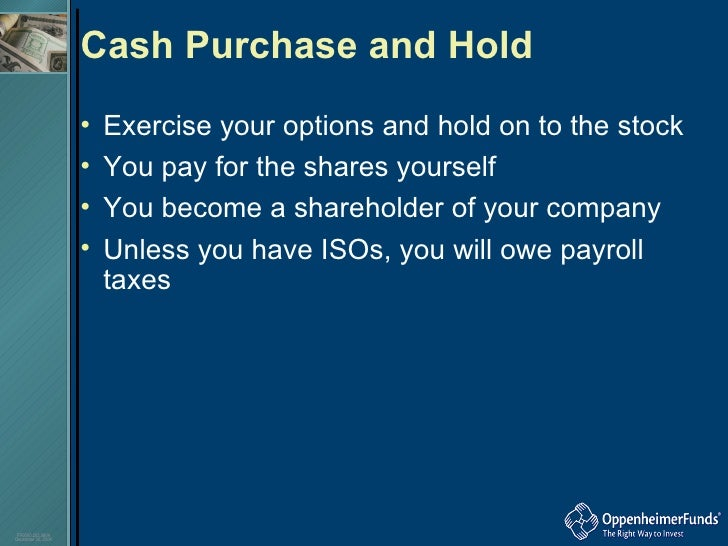 Stock options cashless sell