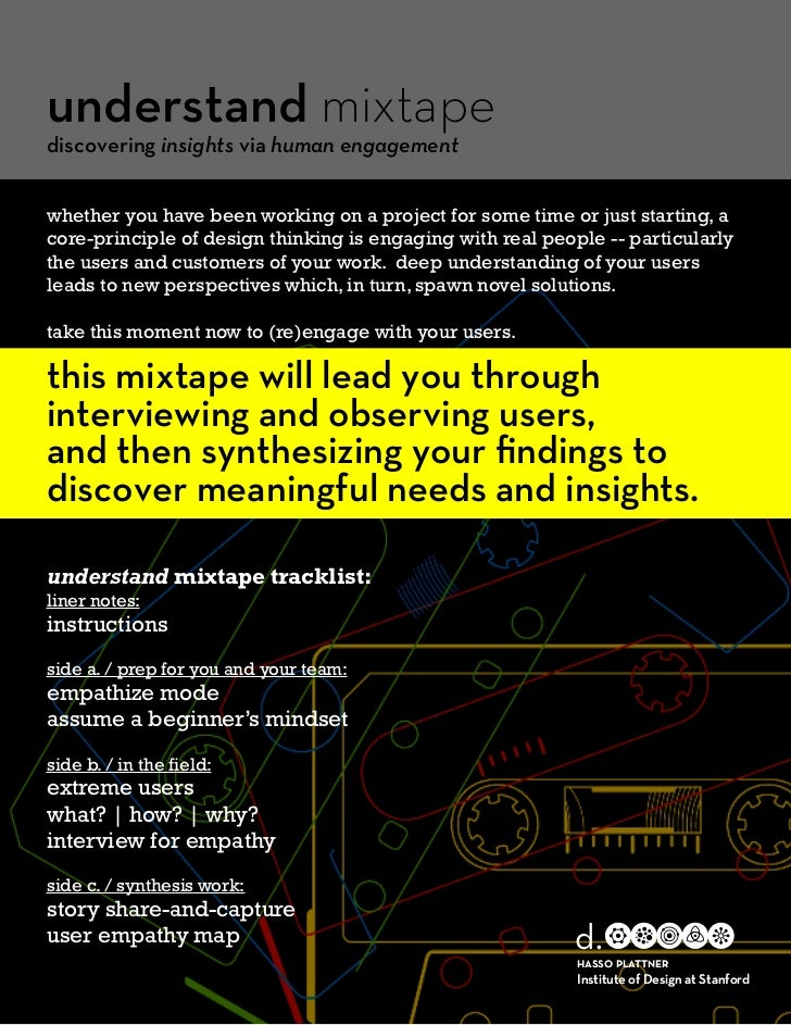 understand mixtapediscovering insights via human engagementwhether you have been working on a project for some time or jus...