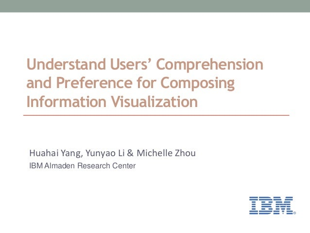Understand Users' Comprehension and Preference for Composing Information Visualization Huahai Yang, Yunyao Li & Michelle Z...