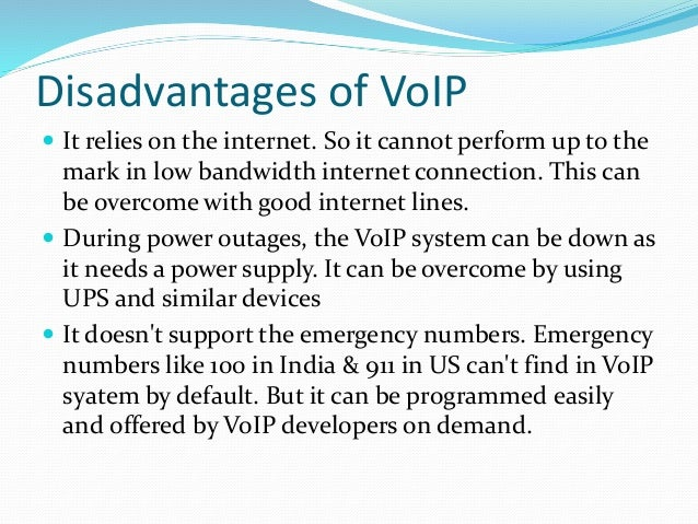 advantages and disadvantages of voip Understand VoIP solution and related technologies in 5 mins.