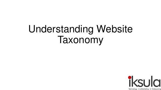 Understanding Website Taxonomy