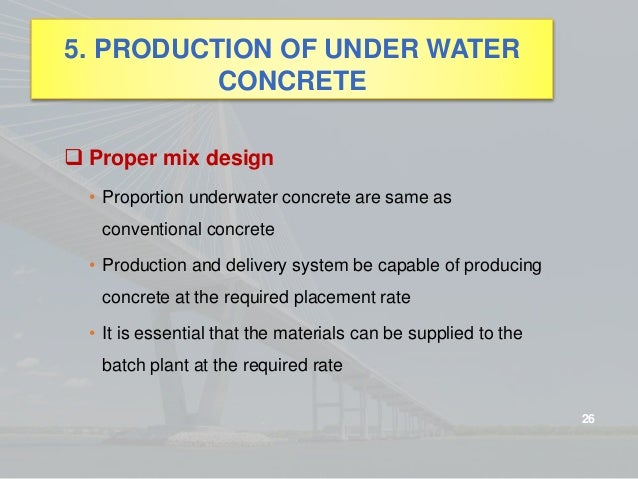 Under Water Concrete