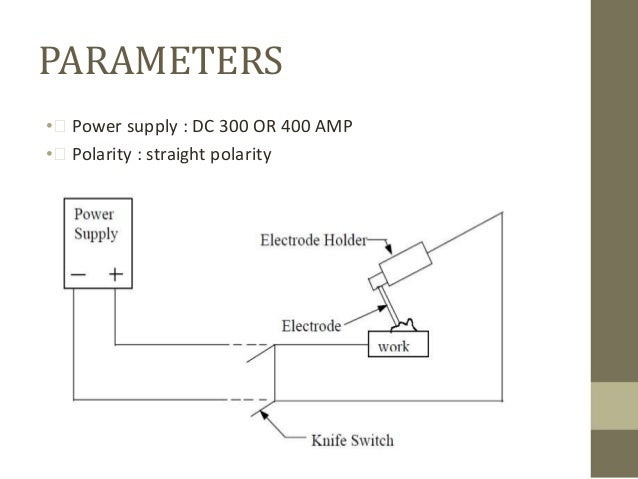 underwater weldingparameters \u2022 power supply dc 300 or 400 amp \u2022 polarity straight polarity