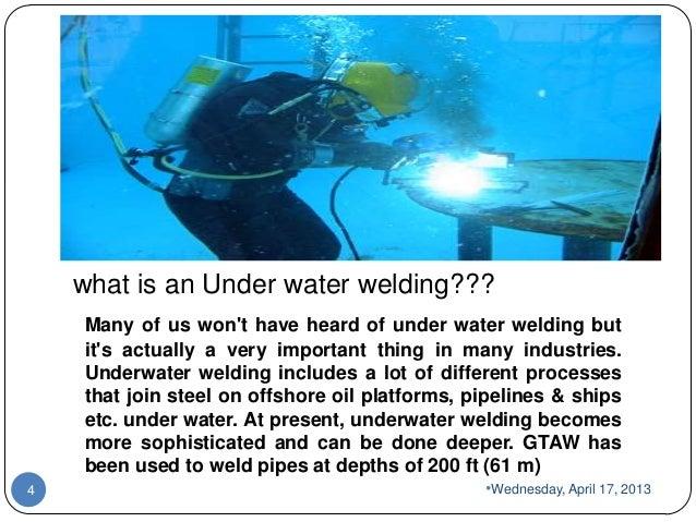 Under water welding smnr