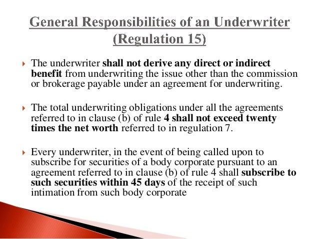types of underwriting in financial services