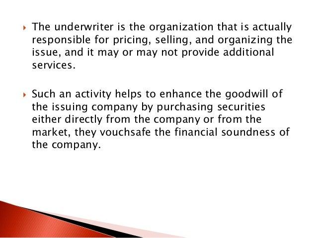 securities underwriting activities