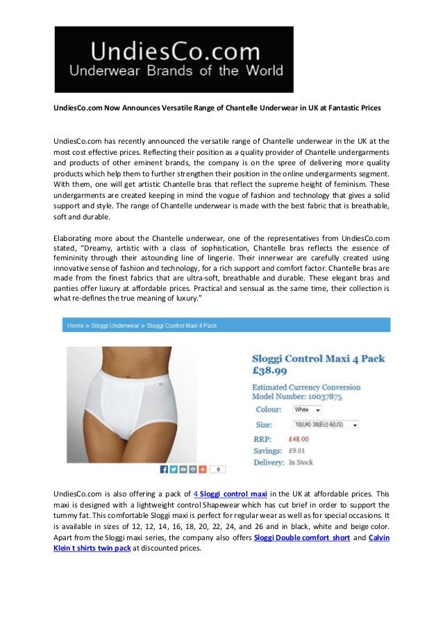 81480dd48b6d UndiesCo.com Now Announces Versatile Range of Chantelle Underwear in UK at Fantastic  Prices