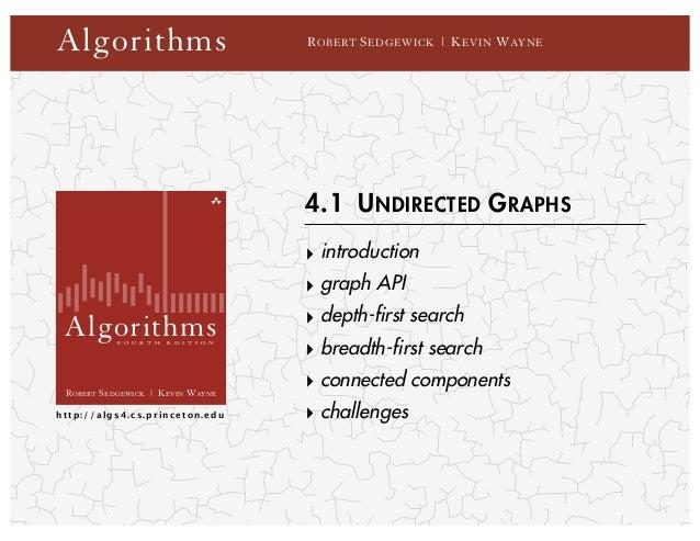 Algorithms                                R OBERT S EDGEWICK | K EVIN W AYNE                                          4.1 ...