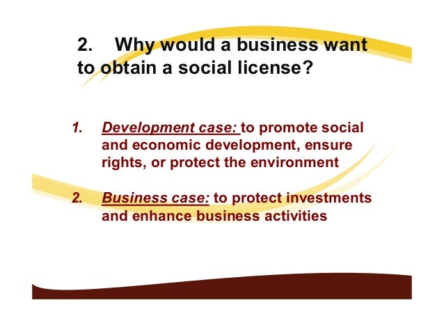 Social Licence to Operate: What and Why Undp standley